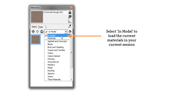 Using In Model to locate newly added textures in SketchUp