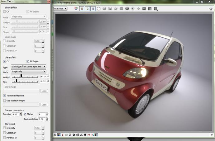 adding emission in v-ray for sketchup