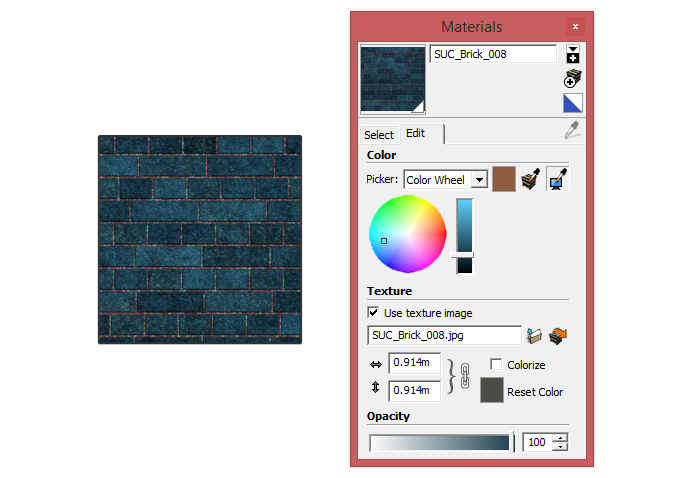 Colorizing textures in SketchUp