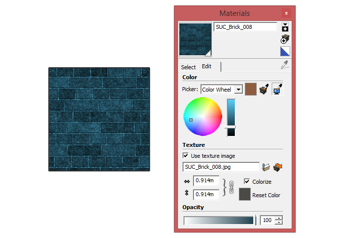 Toggling colorize in SketchUp