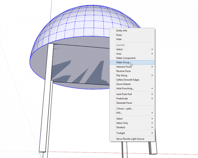Building a dome in SketchUp step 07