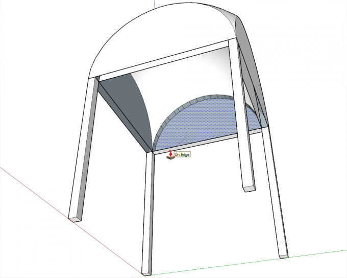 Building a dome in SketchUp step 20
