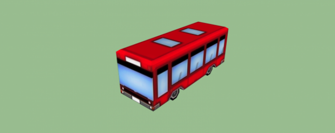 lo-poly vehicle in SketchUp