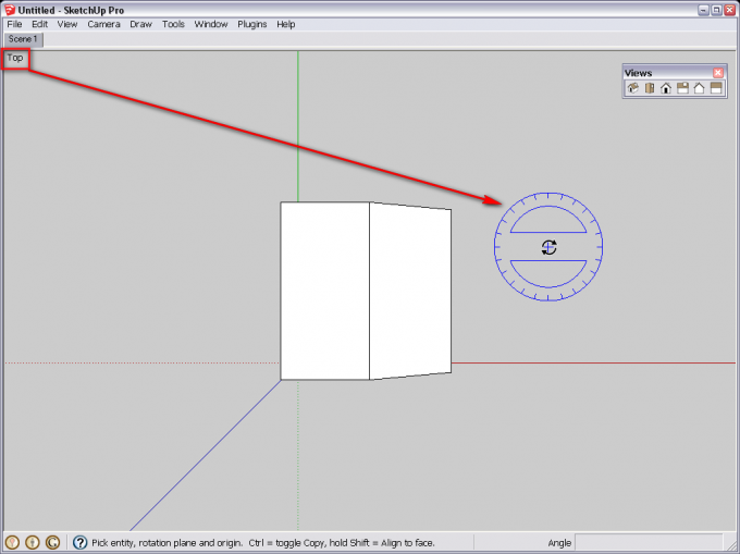Aligning the Rotate and Protractor tools | SketchUcation