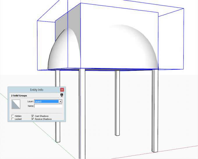 Building a dome in SketchUp step 09