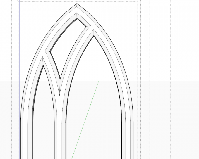 How to model a Gothic tracery in SketchUp