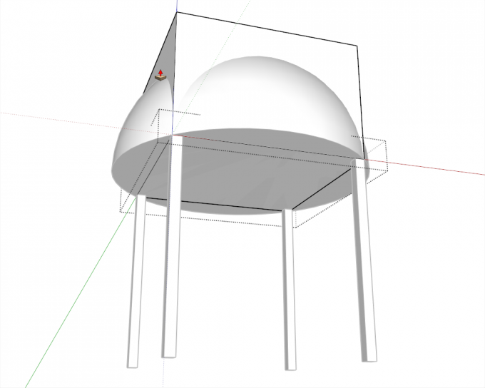 Building a dome in SketchUp step 08