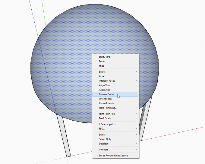 Building a dome in SketchUp step 05