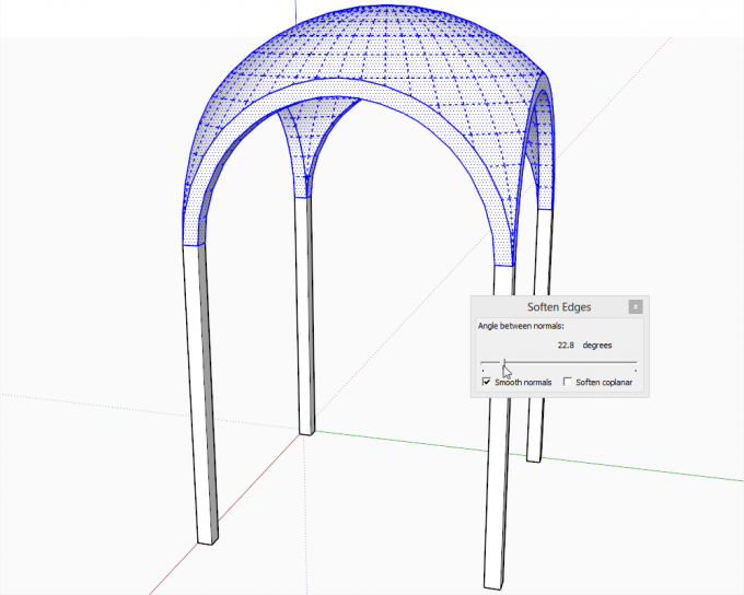 Building a dome in SketchUp step 24