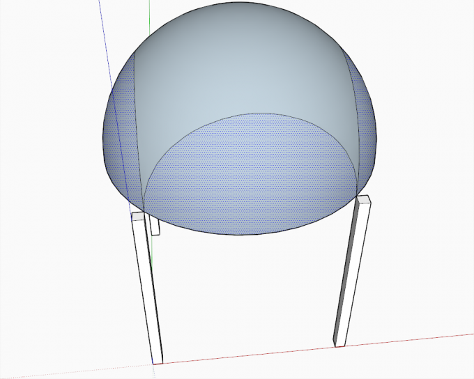 Building a dome in SketchUp step 16