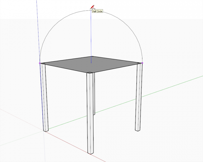 Building a dome in SketchUp step 02