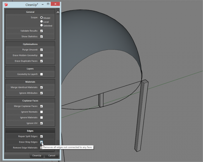 Building a dome in SketchUp step 18