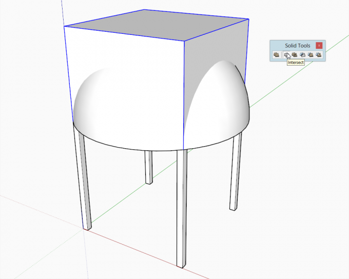 Building a dome in SketchUp step 10