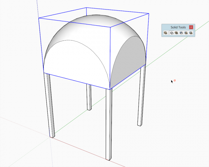 Building a dome in SketchUp step 12