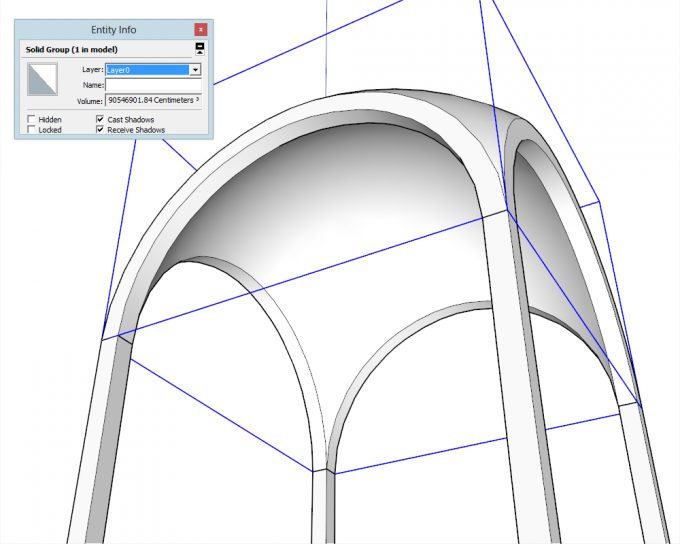 Building a dome in SketchUp step 28
