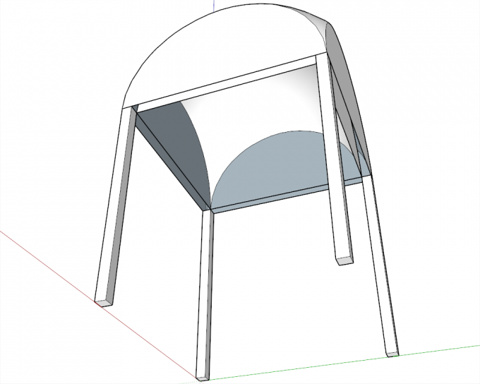 Building a dome in SketchUp step 19
