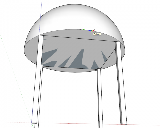 Building a dome in SketchUp step 06