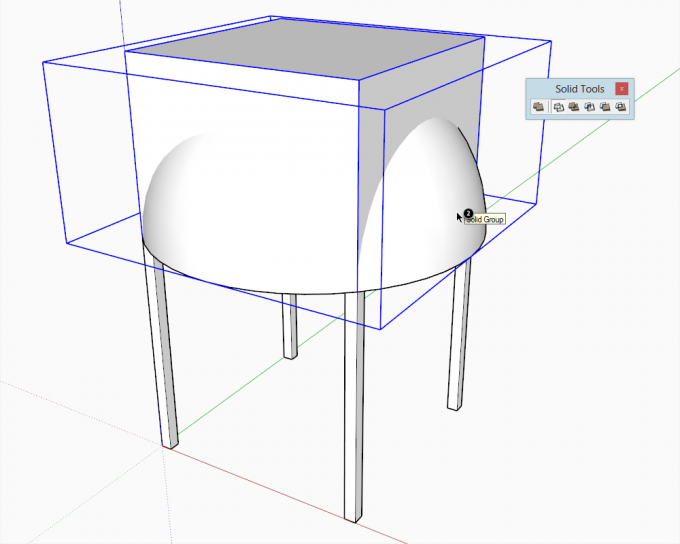 Building a dome in SketchUp step 11