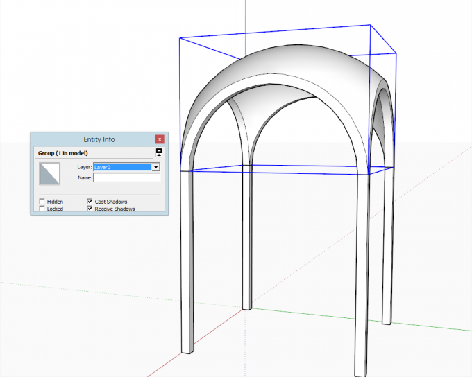 Building a dome in SketchUp step 26