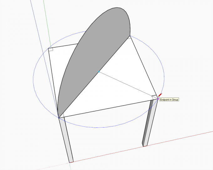 Building a dome in SketchUp step 03