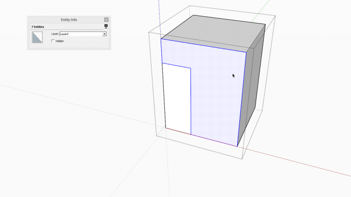 Basic intersection in SketchUp