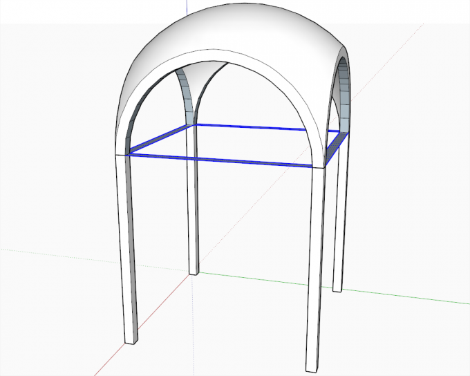 Building a dome in SketchUp step 22