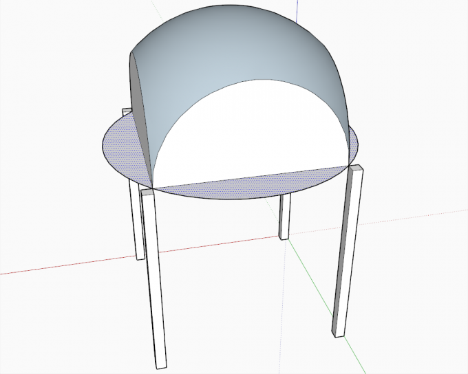Building a dome in SketchUp step 17
