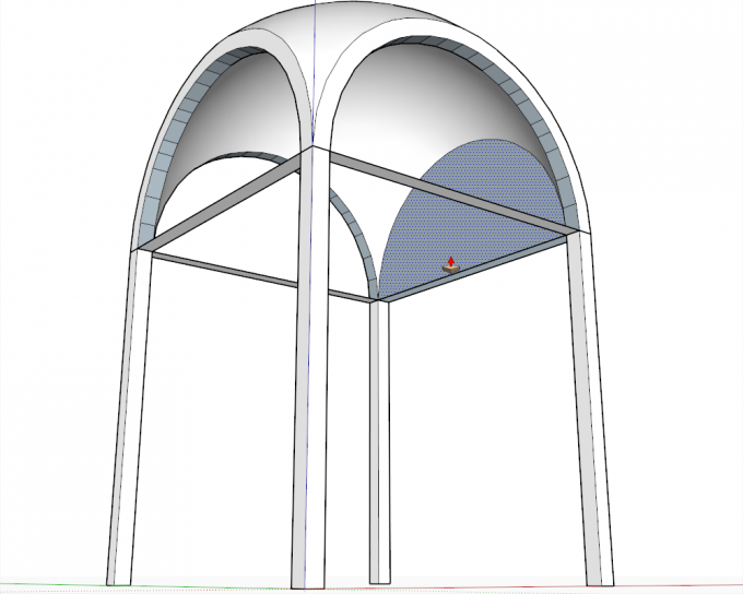 Building a dome in SketchUp step 21