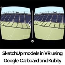 sketchup vr and kubity