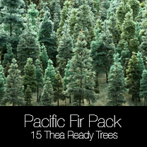Pacific Fir Trees for SketchUp and Thea