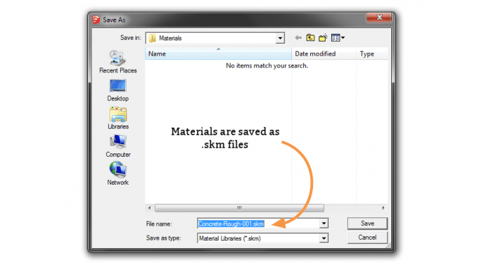 Saving SketchUp .skm files to default or custom folders