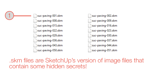 .skm is the file format for SketchUp materials