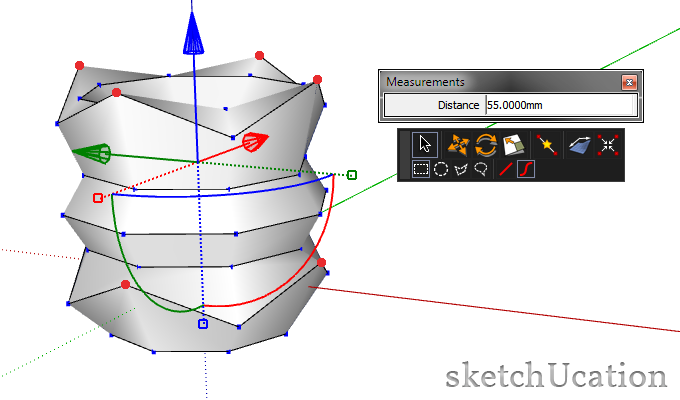 Select alternate vertices
