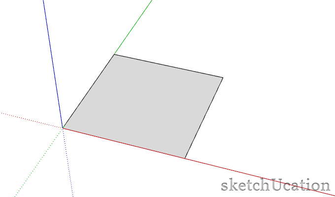 drawing a rectangle in sketchup