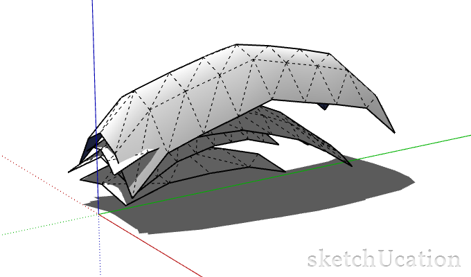 stacking leaves in sketchup