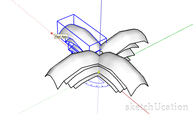 making a rotational array in sketchup