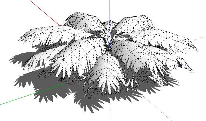cut out the leaf shape in sketchup