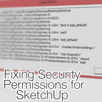 how to set plugin folder security permissions in SketchUp