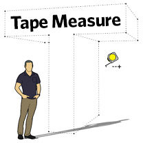 tape measure tips for sketchup
